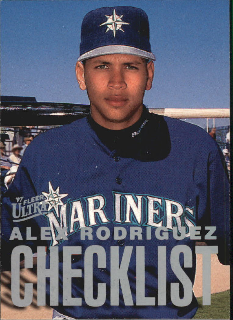 1997 Ultra Checklists #B4 Alex Rodriguez