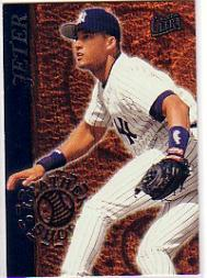 1997 Ultra Leather Shop #4 Derek Jeter