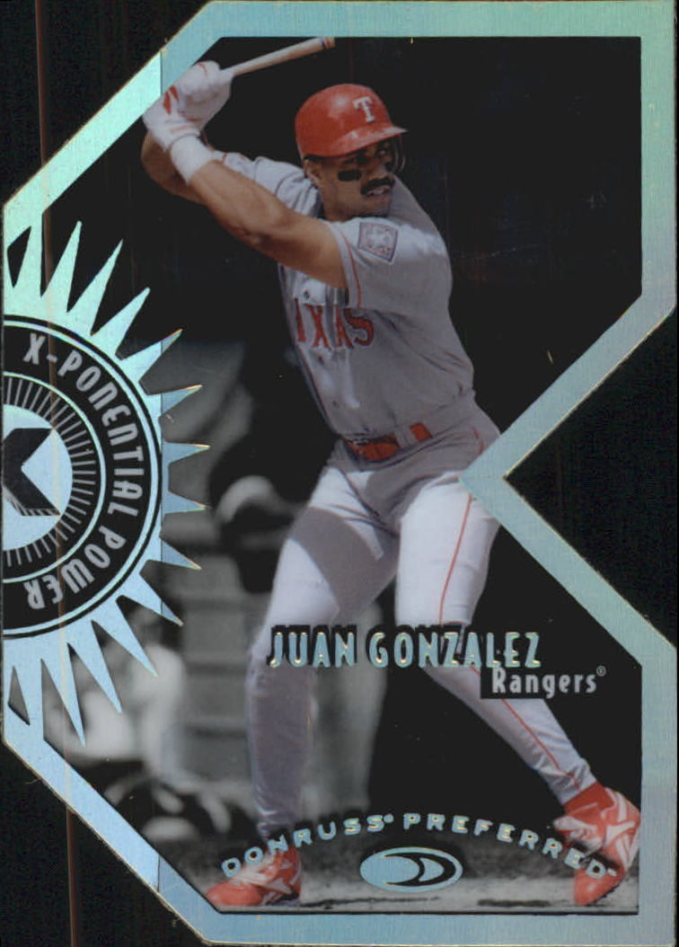 1997 Donruss Preferred X-Ponential Power #3B Juan Gonzalez