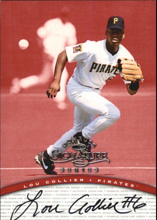 1997 Donruss Signature Autographs #20 Lou Collier/3900