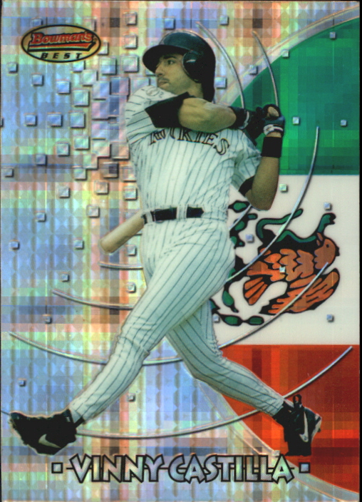 1997 Bowman International Best Atomic Refractor #BBI8 Vinny Castilla