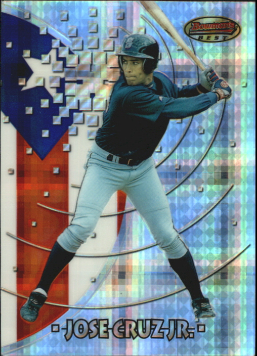 1997 Bowman International Best Atomic Refractor #BBI19 Jose Cruz Jr.
