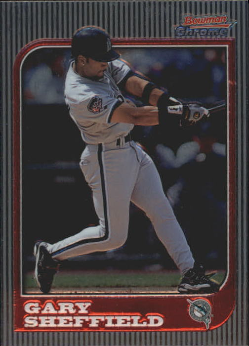 1997 Bowman Chrome #58 Gary Sheffield
