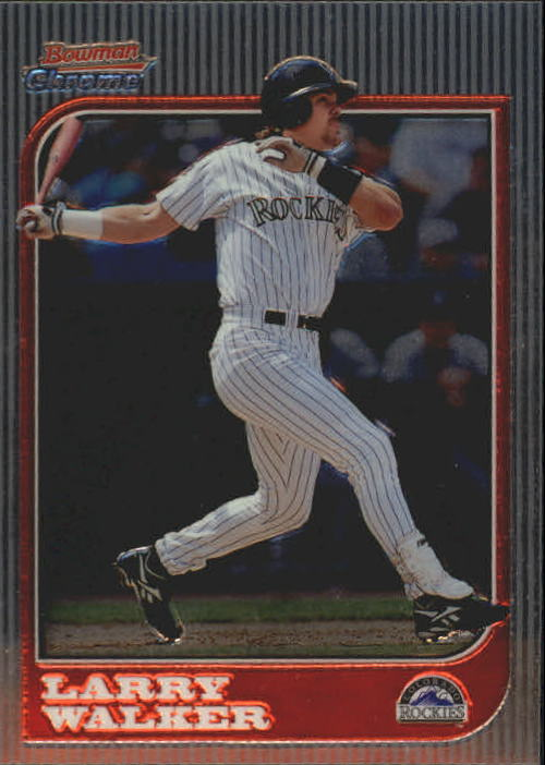 1997 Bowman Chrome #92 Larry Walker
