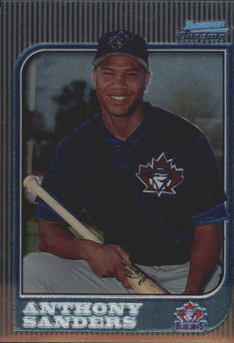 1997 Bowman Chrome #139 Anthony Sanders RC