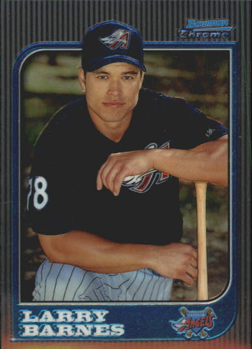 1997 Bowman Chrome #221 Larry Barnes RC