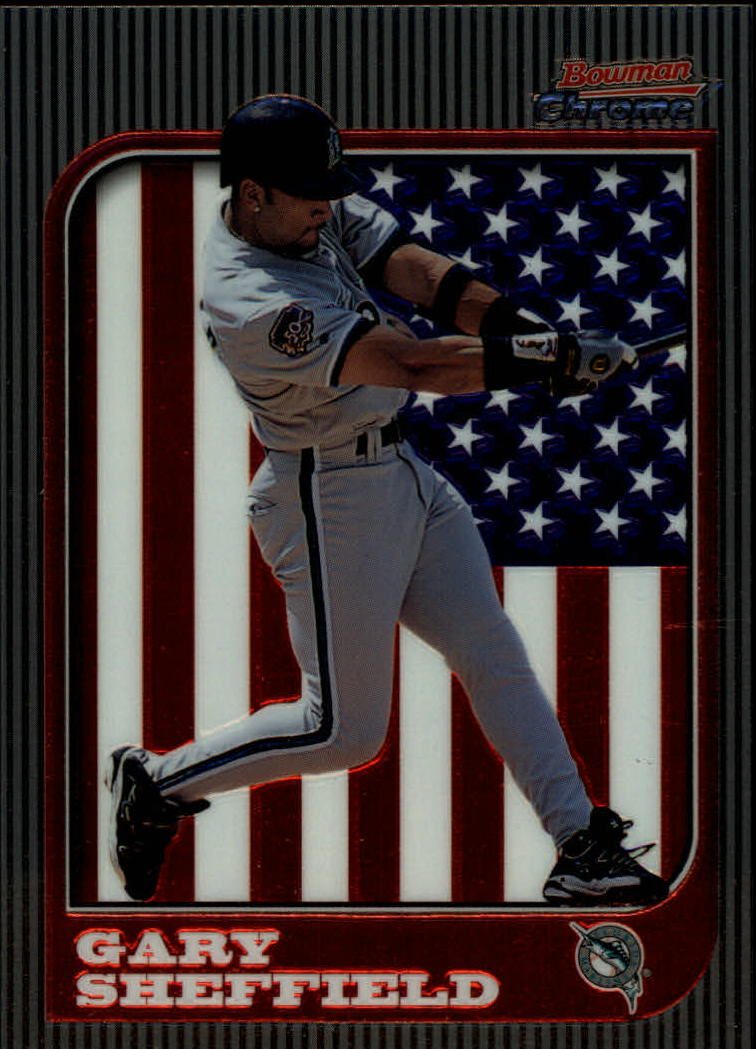 1997 Bowman Chrome International #58 Gary Sheffield