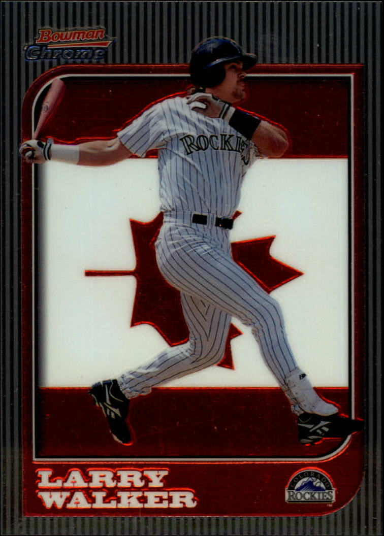 1997 Bowman Chrome International #92 Larry Walker