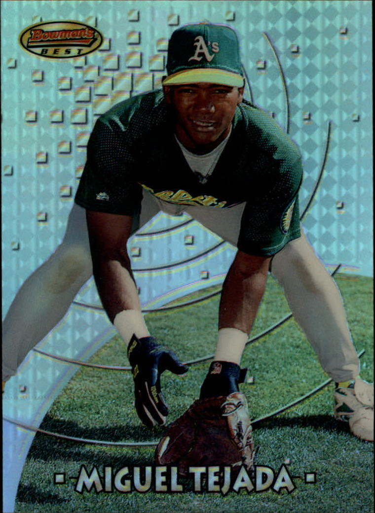1997 Bowman's Best Preview Refractor #18 Miguel Tejada