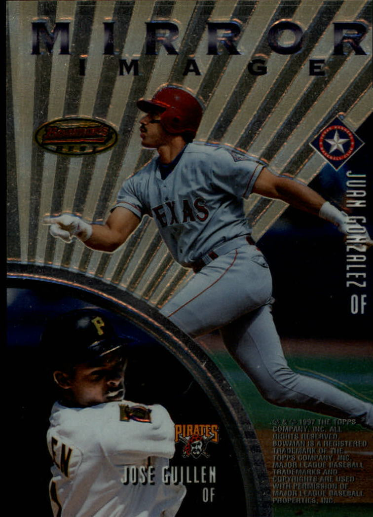 1997 Bowman's Best Mirror Image #MI5 J.Cruz/Grif/Jones/Bonds