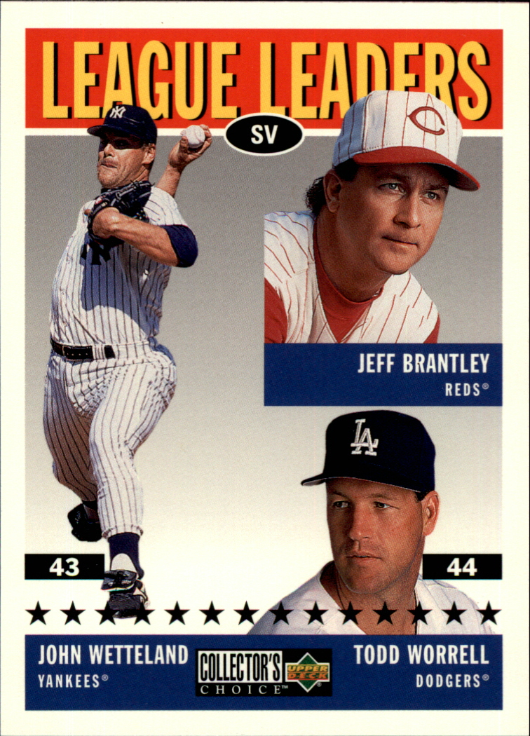 1997 Collector's Choice #63 J.Wetteland/T.Worrell/J.Brantley LL
