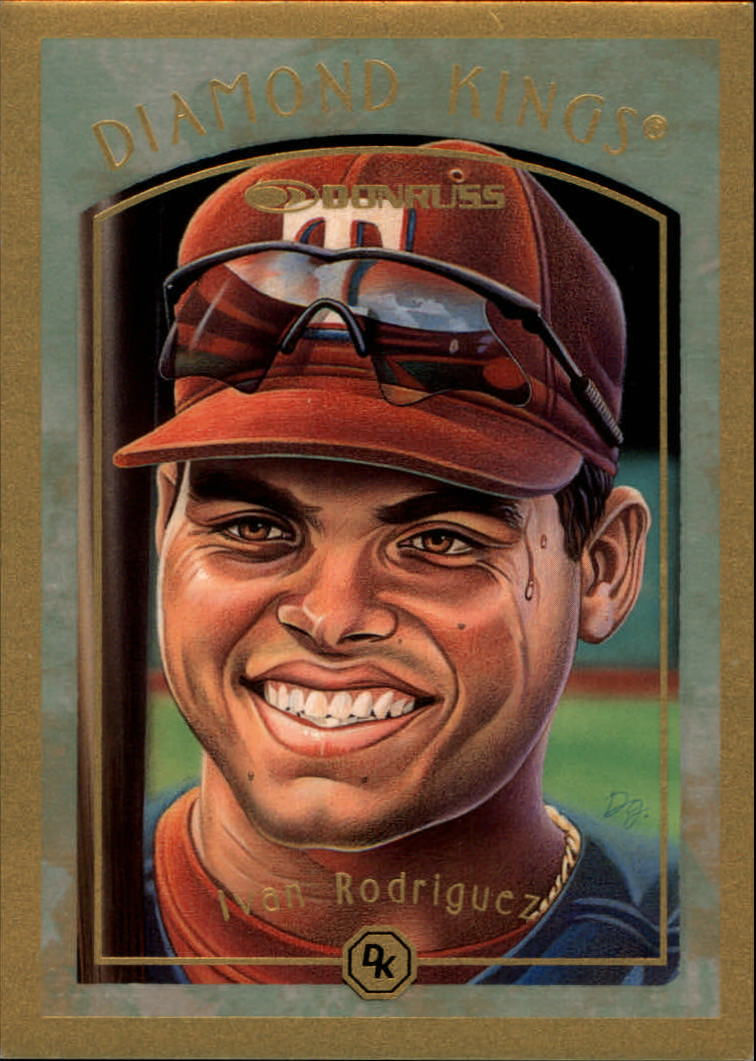 1997 Donruss Diamond Kings #8 Ivan Rodriguez