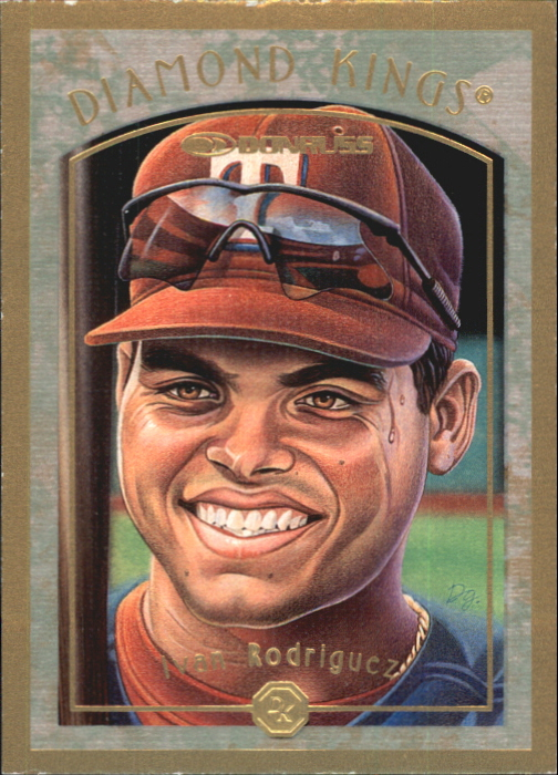 1997 Donruss Diamond Kings Canvas #8 Ivan Rodriguez