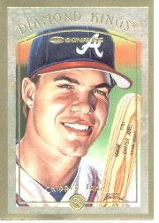 1997 Donruss Diamond Kings Canvas #10 Chipper Jones
