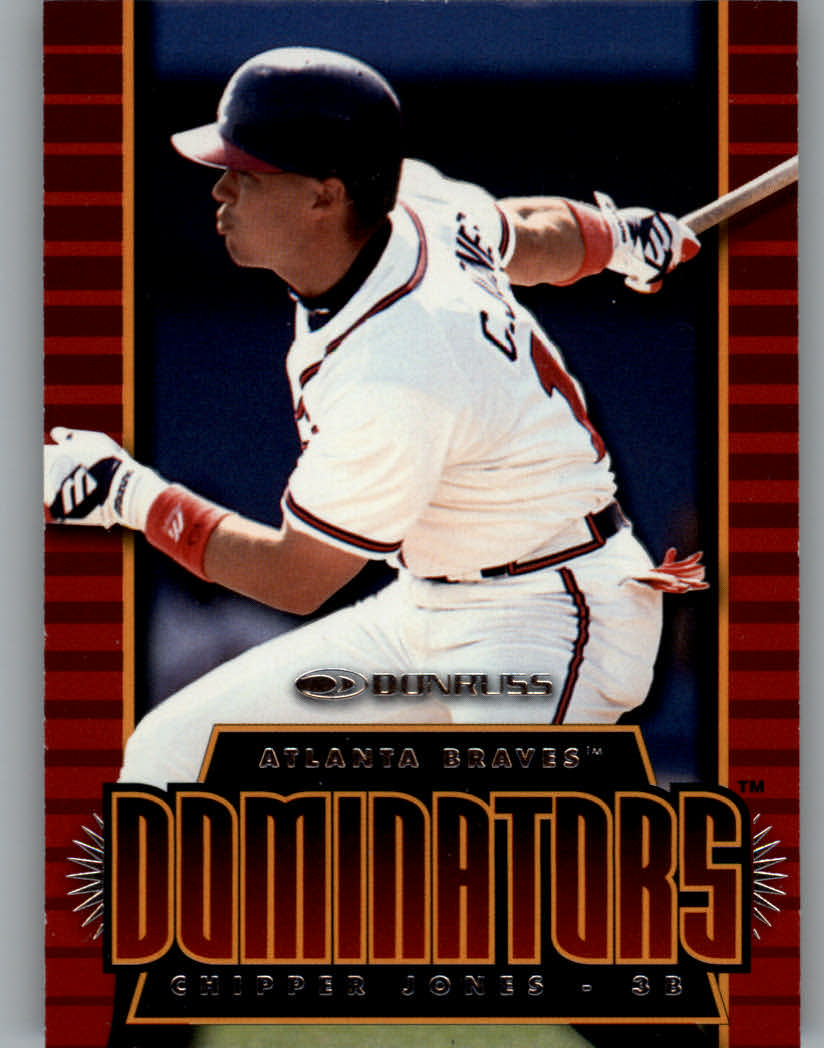 1997 Donruss Dominators #9 Chipper Jones