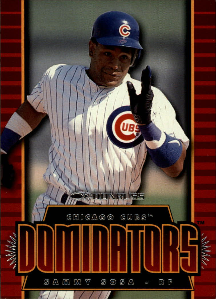 1997 Donruss Dominators #14 Sammy Sosa