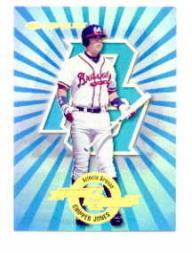 1997 Donruss Power Alley #10 Chipper Jones B