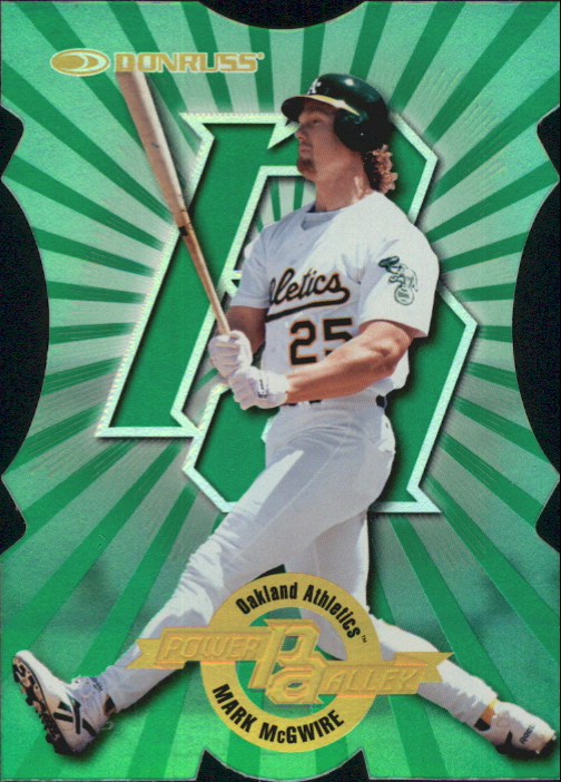 1997 Donruss Power Alley Die Cuts #14 Mark McGwire GR