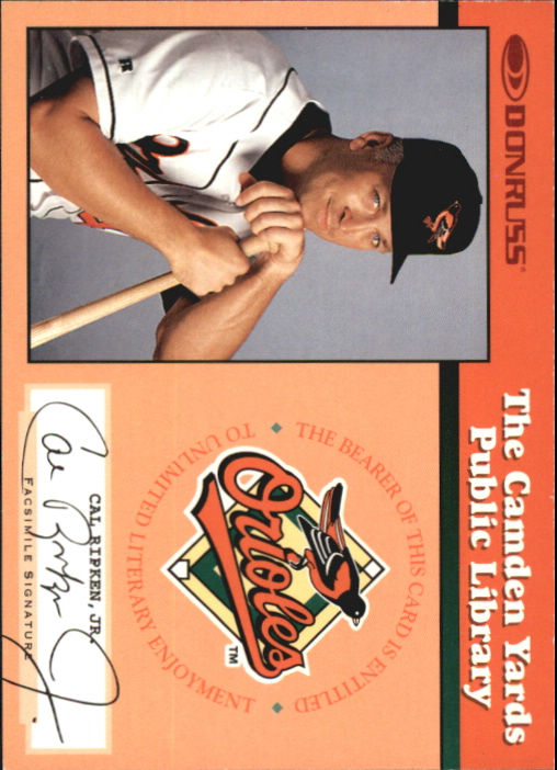 1997 Donruss Ripken The Only Way I Know #10A Cal Ripken BOOK AU/2131