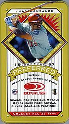 1997 Donruss Preferred Tin Boxes Gold #5 Juan Gonzalez