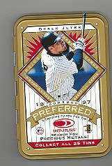 1997 Donruss Preferred Tin Boxes Gold #8 Derek Jeter