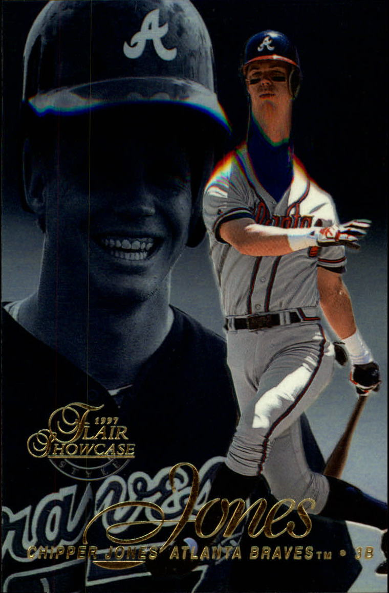 1997 Flair Showcase Row 2 #10 Chipper Jones