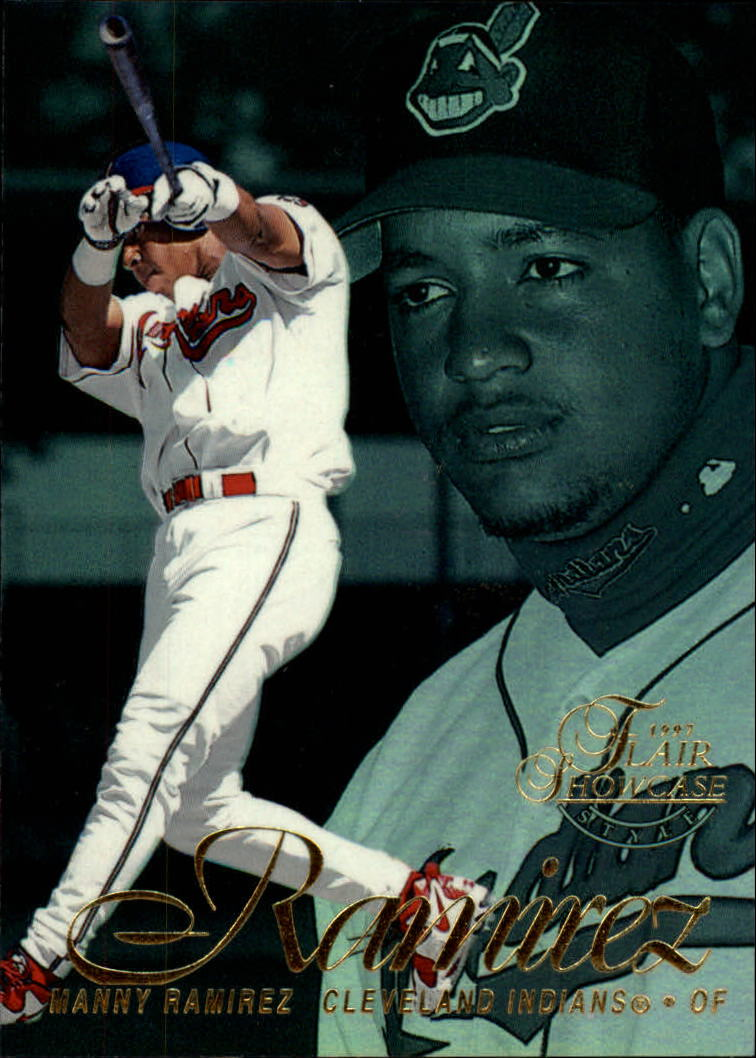 1997 Flair Showcase Row 2 #33 Manny Ramirez