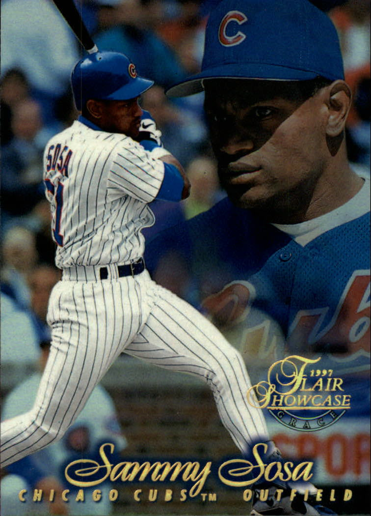 1997 Flair Showcase Row 1 #34 Sammy Sosa