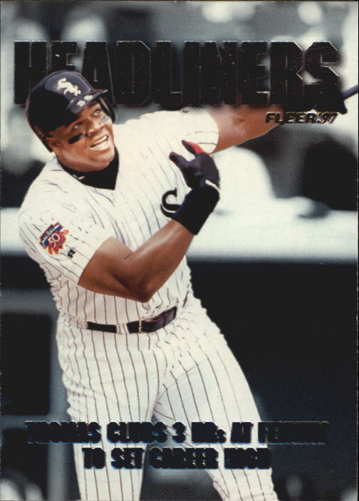 1997 Fleer Headliners #20 Frank Thomas