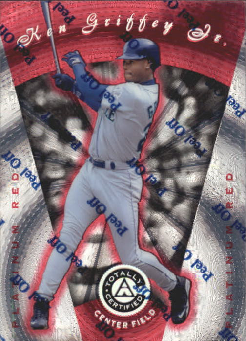 1997 Pinnacle Totally Certified Platinum Red #53 Ken Griffey Jr.
