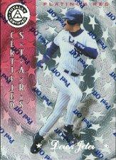 1997 Pinnacle Totally Certified Platinum Red #141 Derek Jeter CERT