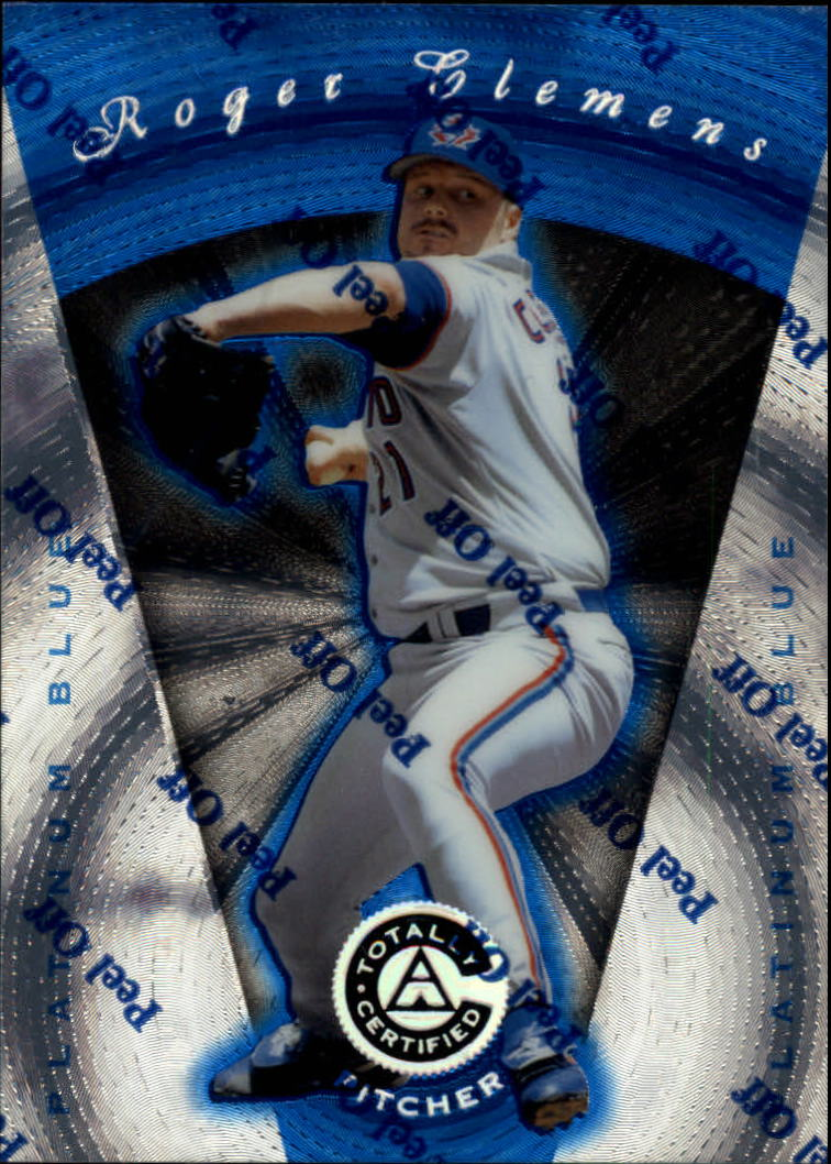 1997 Pinnacle Totally Certified Platinum Blue #39 Roger Clemens