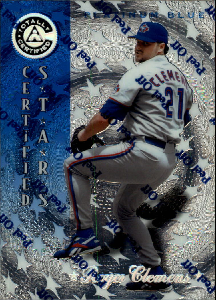 1997 Pinnacle Totally Certified Platinum Blue #138 Roger Clemens CERT