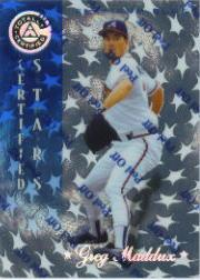 1997 Pinnacle Totally Certified Platinum Blue #143 Greg Maddux CERT