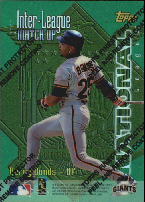 1997 Topps Inter-League Finest Refractors #ILM1 M.McGwire/B.Bonds