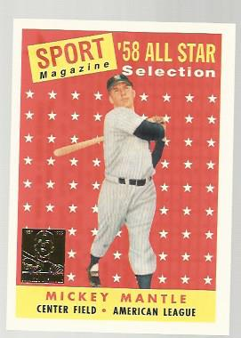 1997 Topps Mantle #25 Mickey Mantle/1958 Topps AS