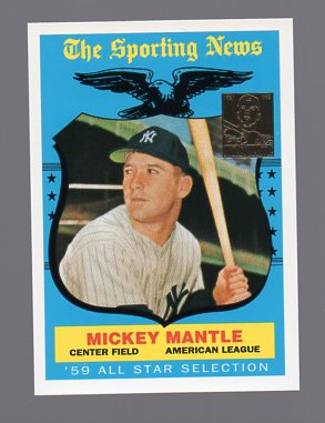1997 Topps Mantle #27 Mickey Mantle/1959 Topps AS