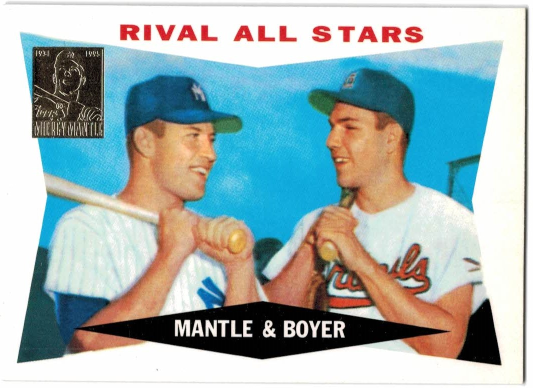 1997 Topps Mantle #28 Mickey Mantle/Ken Boyer/1960 Topps front image