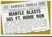 1997 Topps Mantle #30 Mickey Mantle/1961 Topps HL back image
