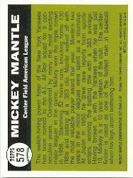 1997 Topps Mantle #32 Mickey Mantle/1961 Topps AS back image