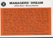 1997 Topps Mantle #33 Mickey Mantle/1962 Topps w/Mays back image