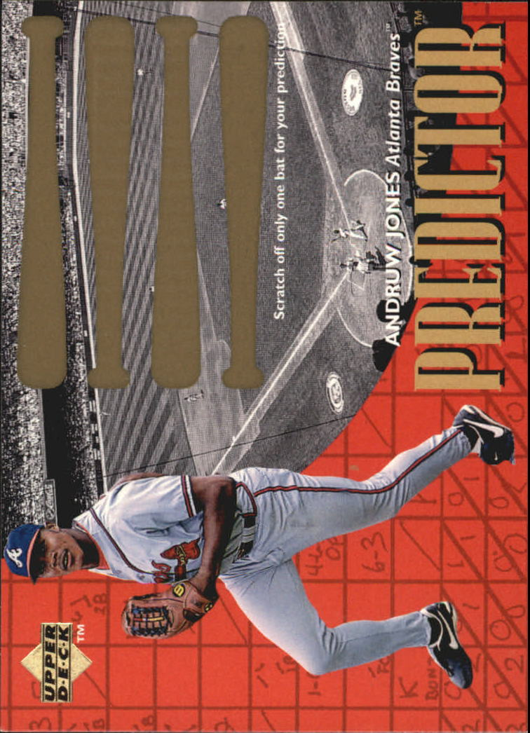 1997 Upper Deck Predictor #1 Andruw Jones