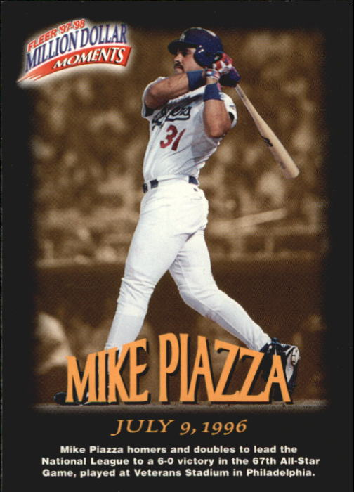 1997-98 Fleer Million Dollar Moments #14 Mike Piazza