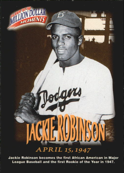 1997-98 Fleer Million Dollar Moments #17 Jackie Robinson