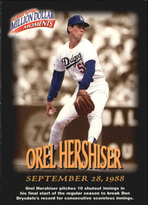 1997-98 Fleer Million Dollar Moments #18 Orel Hershiser