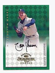 1998 Donruss Signature Autographs Millennium #65 Randy Johnson/800*