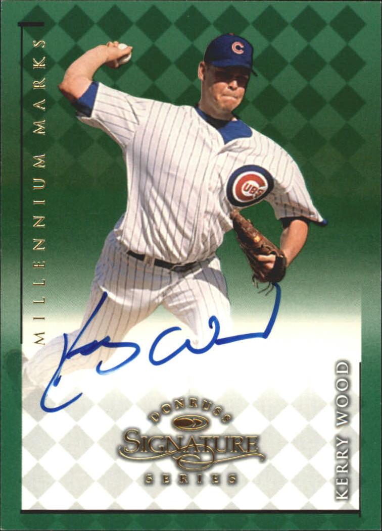 1998 Donruss Signature Autographs Millennium #125 Kerry Wood