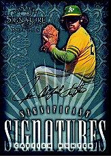 1998 Donruss Signature Significant Signatures #4 Catfish Hunter/2000
