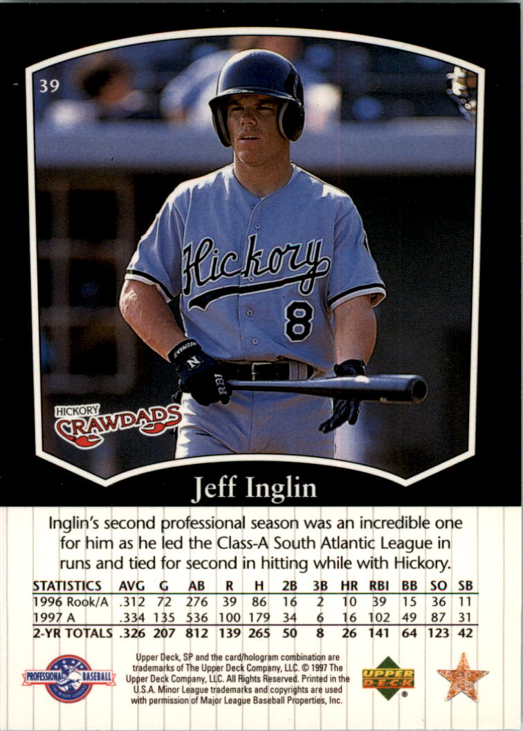 1998 SP Top Prospects #39 Jeff Inglin