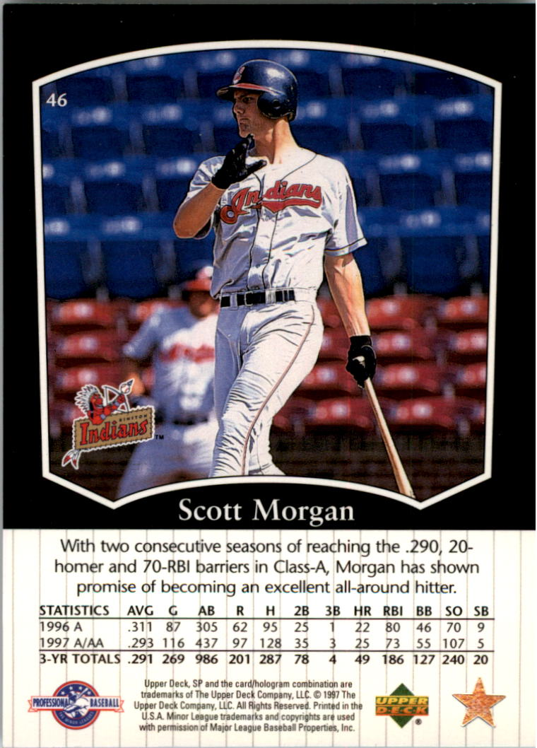 1998 SP Top Prospects #46 Scott Morgan back image